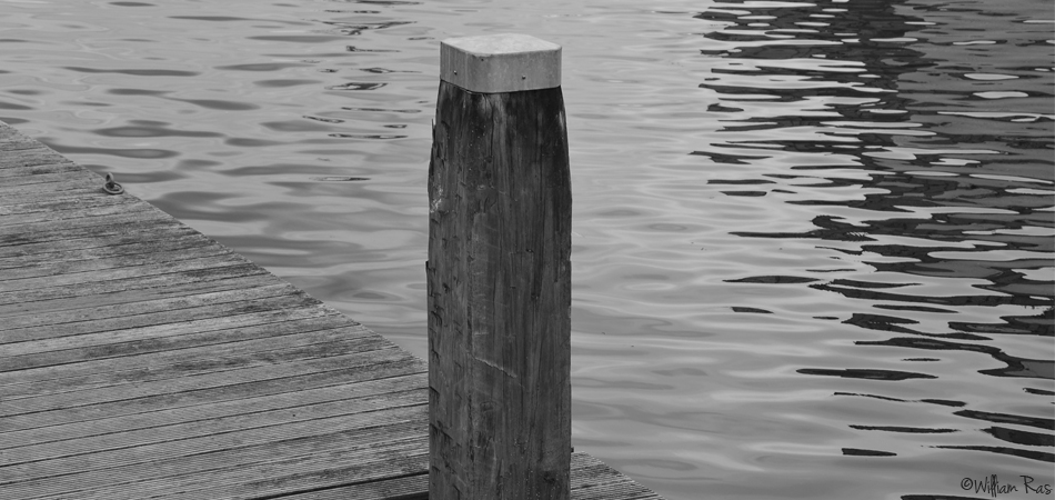 """ A bollard at the Twente Channel in Enschede """